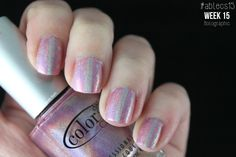 #ablecs15 Week 15: Holographic. Color Club - Halo-Graphic / KBShimmer PT Young Thing.