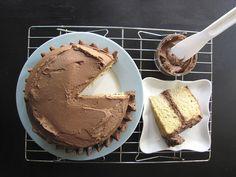 vanilla chocolate buttercream cake