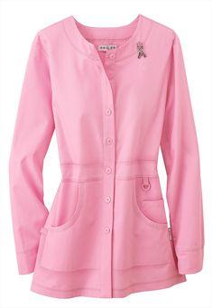Koi ~ Olivia ~ Pink Ribbon Lab Coat With Pin ~ $34.99