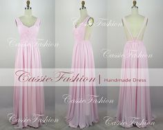 2014 Prom DressBackless Floor Length Straps Dress by CassieFashion