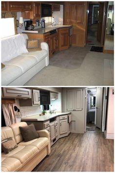 Tiny House Living, Rv Living, Small Living, Rv Travel Trailers, Rv Homes, Camper Makeover, Camper Renovation, Trailer Remodel, Diy Camper