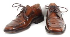 Bacco Bucci Brown Leather Oxfords Shoes Mens Size 10 Distressed Made In Italy  #BaccoBucci #Oxfords