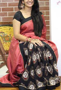 Sarees - Sarees Online, Indian Designer Sarees, Sarees For Women Kalamkari Dresses, Kalamkari Saree, Georgette Sarees, Saree Models, Blouse Models, Fancy Sarees, Party Wear Sarees, Sari Design, Simple Sarees