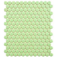 Used indoors or outdoors, these porcelain mosaic tiles will add a contemporary look to the surroundings. The light green matte finish coordinates well with a variety of color schemes, and this tile can be used on both floors and walls.