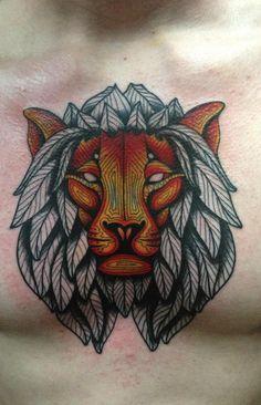 Beautiful lion tattoo