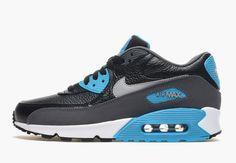 Nike Air Max 90 Leather - Black - Wolf Grey - Blue Legion - SneakerNews.com