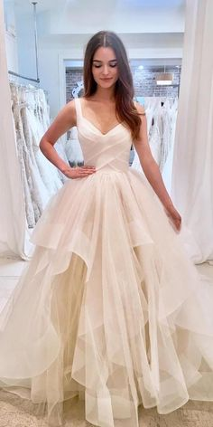 Layered Wedding Dresses, Best Wedding Dresses, Bridal Dresses, Wedding Gowns, Ballgown Wedding Dress, V Neck Wedding Dress, Custom Wedding Dress, Formal Dresses For Weddings, Bridesmaid Dresses