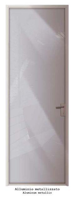 Anta singola battente Mod.Alluminio metalizzato_Collezione LACCATI Single hinged door Mod.Aluminum Metallic_LACQUERED Collection di #MRartdesign