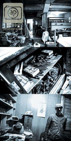 #environmentalportrait #blackandwhite #winnipeg #photography Ray in his shop.