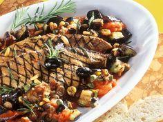 Mediterranes Gemüse mit gegrillter Leber ist ein Rezept mit frischen Zutaten aus der Kategorie Kalb. Probieren Sie dieses und weitere Rezepte von EAT SMARTER!