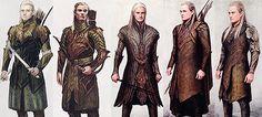 Costume design concept art for Legolas from The Hobbit: Desolation of Smaug, Chronicles: Art & Design. Tolkien, Mirkwood Elves, Lotr Elves, Hobbit Art, O Hobbit, Fantasy Male, Hobbit Costume, Legolas Costume, Lord Of Rings