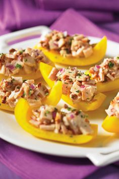 Smoked Chicken–Stuffed Yellow Pepper - 10-Minute Appetizer Recipes - Oprah.com