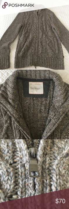 Banana Republic cardigan Worn once for pictures *eye roll* purchased for over $200. 2 zippers, elbow patches Banana Republic Sweaters