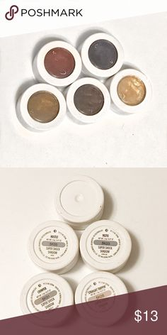 Colourpop Super Shock Shadows Gently used and still fully pigmented. Sanitized and ready for use. The blue shadow is missing a label. It came with the 90210 set and is a matte shadow. You get 3 mattes, a metallic, and a satin shadow. Colourpop Makeup Eyeshadow
