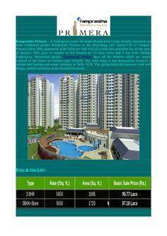 Luxury ((((3 bhk+3t)))) flats | ramprastha primera   setor37d gurgaon by vipinprop via slideshare