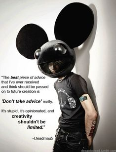 Deadmau5 Thank you BH aka Apple =) This is a cool Pin but OMG check this out #EDM www.soundcloud.com/viralanimal