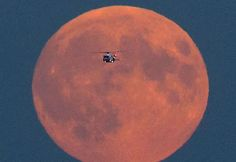 The Coastguard Rescue Helicopter crosses the historic moon shortly before the lunar eclipse on its way to the Jurassic Coast in Dorset where three people cut-off by the tide were rescued World Pictures, Pictures Images, Blood Moon Pictures, Moon Pics, Supermoon Photos, Lyme Regis, Lunar Eclipse, Eclipse 2015, Jurassic Coast