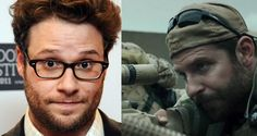 Seth Rogen Has Compared American Sniper To A Nazi Propaganda Movie - http://www.theladbible.com/articles/seth-rogen-has-compared-american-sniper-to-a-nazi-propaganda-movie