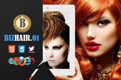 Biz Hair 01 Premium HTML5 Template by bizgenz on @creativework247
