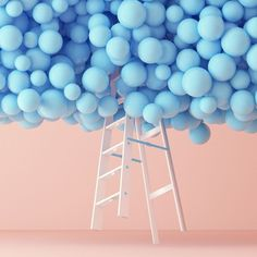 Balloons and ladder, design