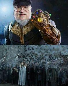 Infinity War vs Game of Thrones #meme #avengersinfinitywar #gameofthrones