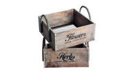 Kasser i genbrugstræ fra House Doctor House Doctor, Wooden Storage Boxes, Wooden Boxes, Storage Crates, Basket Storage, Toy Storage, Dr Flowers, Flowers Garden, Boutique Deco