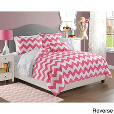 Chelsea 4-piece Reversible Comforter Set - Overstock™ Shopping - The Best Prices on Victoria Classics Kids' Comforter Sets