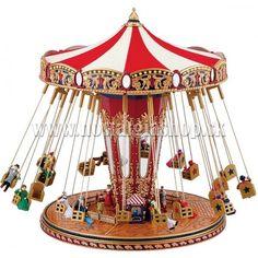 Musical Carousel Horses and Carnival Rides, Circus Tents, Roller Coasters, World's Fair Carnival Rides by Mr Christmas Christmas World, Mr Christmas, Christmas Music Box, Vintage Circus, Vintage Toys, Vintage Music, Carousel Musical, Gold Labels, World's Fair