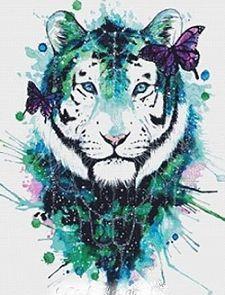 Galaxy Tiger Cross Stitch Kit - Scandy Girl