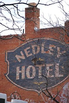 ghost sign for the Nedley Hotel