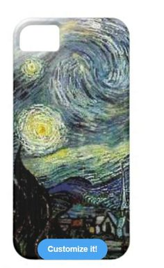 Van Gogh Starry Night iPhone Case available at: http://www.zazzle.com/art_van_gogh_stary_night_iphone_5_covers-179842076635152997?rf=238623693837530845