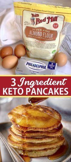 Keto Cream Cheese Pancakes, Low Carb Pancakes, Pancakes Easy, Cream Cheeses, Cream Cheese Keto Recipes, Almond Flour Pancakes, Low Carb Breakfast Easy, Breakfast Recipes, Dinner Recipes