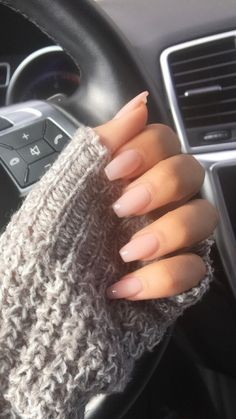French Fade With Nude And White Ombre Acrylic Nails Coffin Nails French Ombre Nails with Gold Glitter;French Ombre Nails with Gold Glitter; Trendy Nails, Cute Nails, Hair And Nails, My Nails, Bio Gel Nails, Gel Nails Shape, Clear Gel Nails, Coffin Shape Nails, Neutral Nail Art