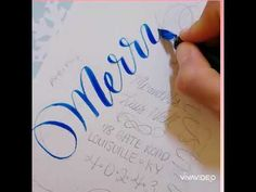 Merry Christmas Tree Calligraphy Envelope