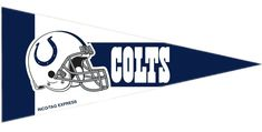 ~Indianapolis Colts Mini Pennants - 8 Piece Set~ backorder