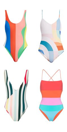c9836f58c14e8 Shop the Look from Mai Spy on ShopStyleThis season's hottest trend: fun  color block one piece swim suits