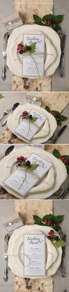 Wedding Menu #weddingstationery #weddingideas #boho #rustic #eco