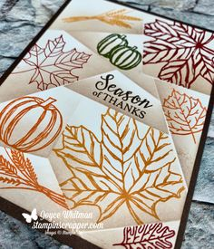 Look how pretty the Retiform Technique is! I used the Colorful Seasons, Gather Together and To Every Season stamp sets from Stampin' Up! You could use this card for a thank you card or Happy Thanksgiving.Informations About Look how pretty the Retif Stamping Up Cards, Card Making Techniques, Thanksgiving Cards, Fall Cards, 3d Projects, Thank You Cards, Cardmaking, Stampin Up, Paper Crafts