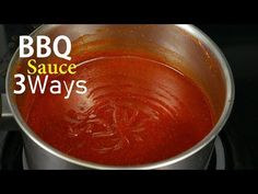 In today's video we are taking a look at how to make bbq sauce 3 ways, regular version, sweet version and sweet and spicy. Make Bbq Sauce, Homemade Barbecue Sauce, Chinese Buffet Crab Casserole Recipe, Chinese Bbq Sauce, Barbque Sauce, Oven Baked Ribs, How To Make Bbq, Sweet Bar, Chicken Tender Recipes