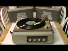 ▶ Mercury (Philips) Portable Tube Record Player Model AG-9115 - 1963 -- Jubilee -- Ben Ventura - YouTube