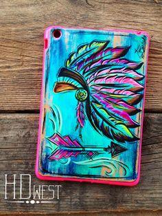 HD west custom leather iPad case