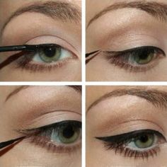 """Simple eyeliner tutorial History of eye makeup """"Eye care"""", put simply, """"eye make-up"""" has always Eyeliner Make-up, Eyeliner Styles, How To Apply Eyeliner, Eyeliner Hacks, Black Eyeliner, Eyeliner Ideas, Applying Eyeliner, Simple Eyeliner Tutorial, Makeup Tutorial Eyeliner"""