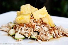 Pineapple Chicken is the perfect addition to your summertime dinner menu. This sweet and spicy combination brings the freshness of the season to your table! #CrockPot #SlowCooker #SummerMeals
