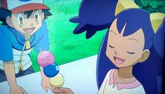 Ash wants iris' berries!!! But MR CILAN!!!!! Pulls them away saying they need a 'proper meal' whats wrong with berries cilan!?!?!!?