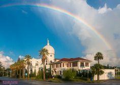 Rainbow over the Sacred Heart Church - Blog - celebrategalveston.com