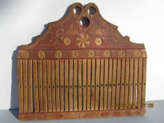RARE Antique Primitive Decorated Weavers Loom Comb Dated 1835 Sold Ebay 750.00. ~♥~