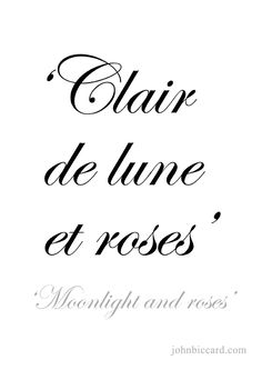 ♔ 'Moonlight and roses'