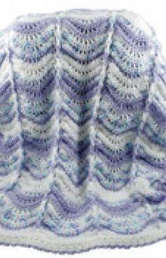 Free Crochet Wavy Baby Blanket Pattern.