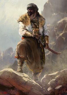 Character Concept for ( Taghribat Bani Hilal ) an Arabic epic oral poem. Fantasy Warrior, Fantasy Rpg, Medieval Fantasy, Fantasy Artwork, Warrior Concept Art, Woman Warrior, Fantasy Character Design, Character Concept, Character Inspiration