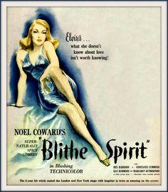 Blithe Spirit Noel Coward Constance Cummings 1945 Movie Poster Print